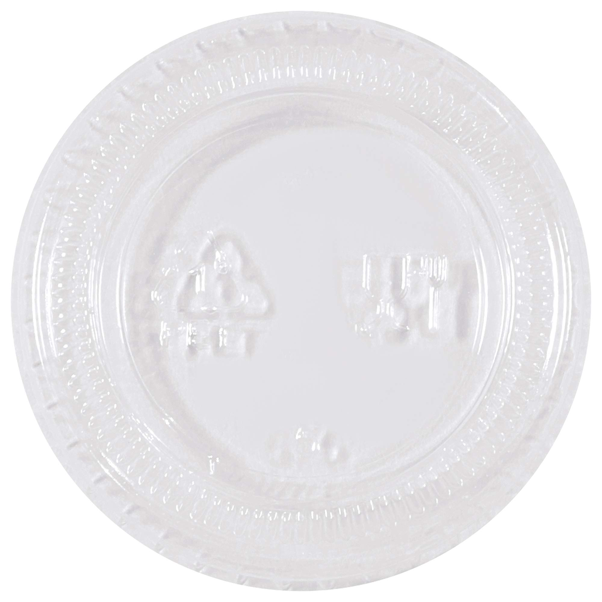 Plastic Portion Cup Lids, 1 oz, Clear, 2500/Case