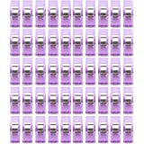Sewing Craft Quilt Binding Plastic Clips Clamps of 50 Clear and Purple