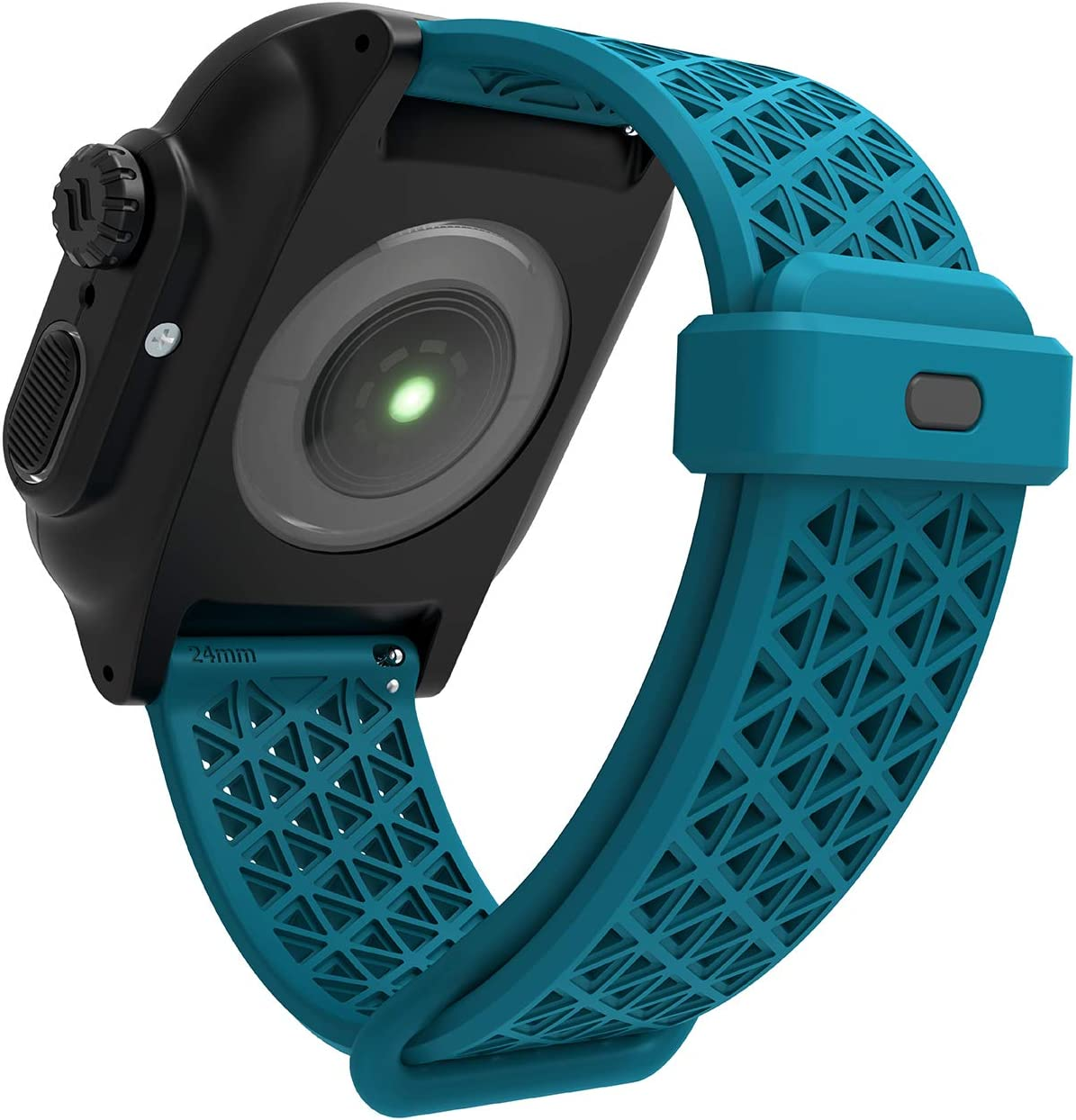 Designed for Apple Watch Series SE/6/5/4/3/2/1, Sport Bands, 24mm Band Designed for Apple Watch 44mm 42mm, Breathable, Sports Wristband Replacement Band Without connectors - Teal