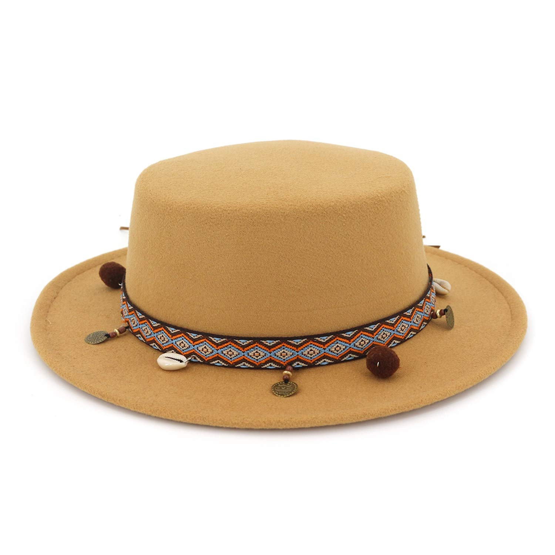 Vintage Flat Top Mens Classic Felt Pork Pie Fedora Hats Tissue Bow Panama Hats