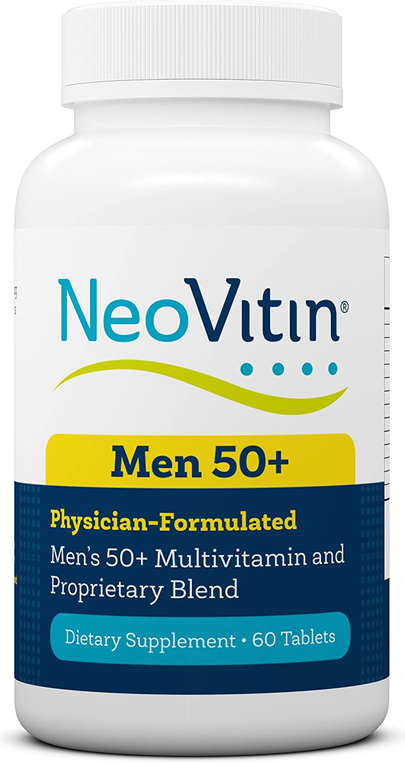 NeoVitin Men s 50 Multivitamin Multimineral with Vitamin B, Vitamin D, Calcium, Vitamin D, L-Carnitine, Asian Ginseng Root Powder, Green Tea Leaf Extract, Turmeric Root Extract