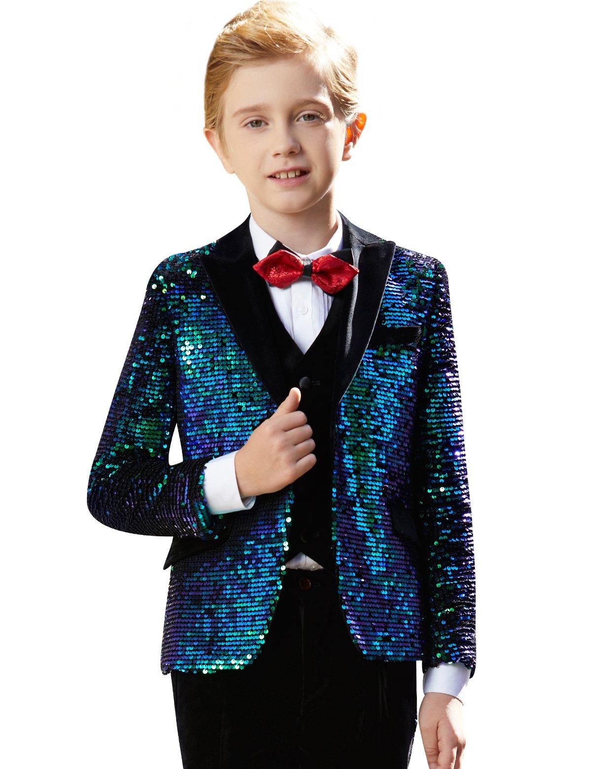 ELPA ELPA Boys Suits 5 Set Children's Dresses Slim Fit Formal Wedding Primary School Host Piano Performance Clothes