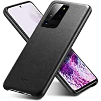ESR Vegan Leather Case Compatible with Galaxy S20 Ultra – Slim Faux-Leather Phone Case [Supports Wireless Charging] [Scratch-Resistant] Protective Case for The Samsung Galaxy S20 Ultra (2020) - Black