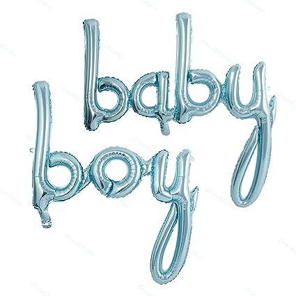 Blue Boy Script Balloon Baby Boy Balloons Gender Reveal Baby Shower Decorations Blue Foil Balloon