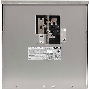 Generac 6335 50-Amp Manual Transfer Switch Outdoor Power Center for 7,500 Watt Portable Generators