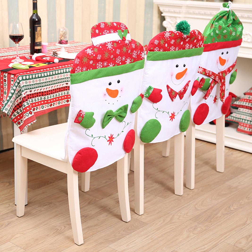 Christmas Chair Covers Snowman