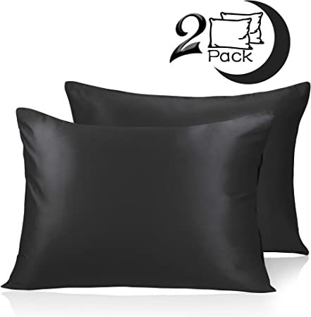 Amazon Com Adubor Satin Pillowcase 2 Pack Silky Pillow Cases For
