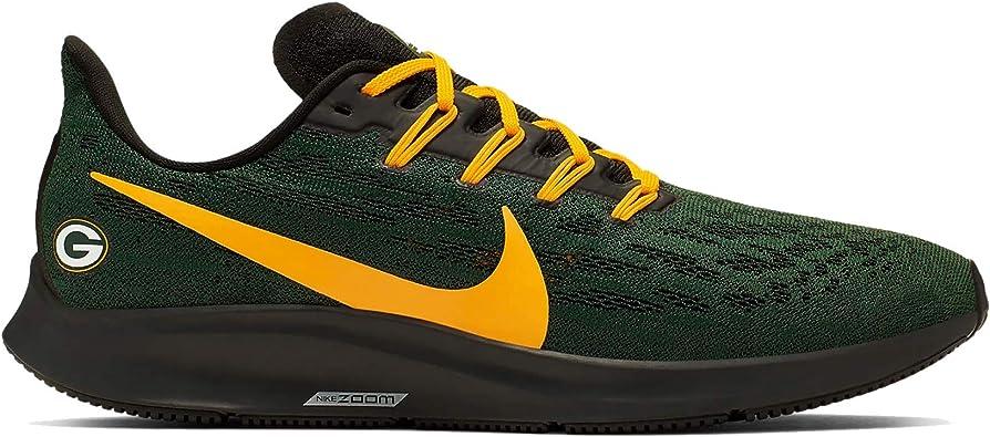 Nike Green Bay Packers Air Zoom Pegasus 36 - Zapatillas de running para hombre, Verde (Verde/dorado), 44.5 EU: Amazon.es: Zapatos y complementos