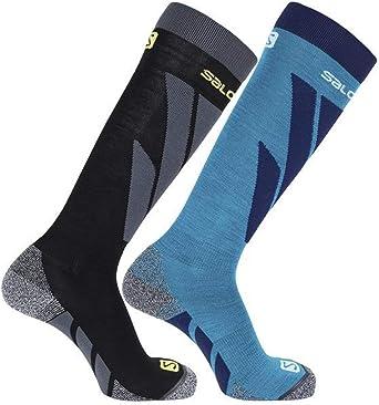 Salomon Womens Access 2 Pack Ski Socks Arch Support