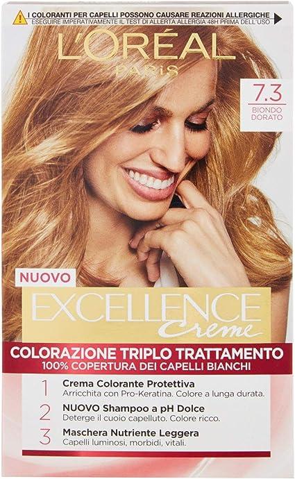 Palette LOreal Excellence N.7.3 Biondo Doratohe Colour Shine ...