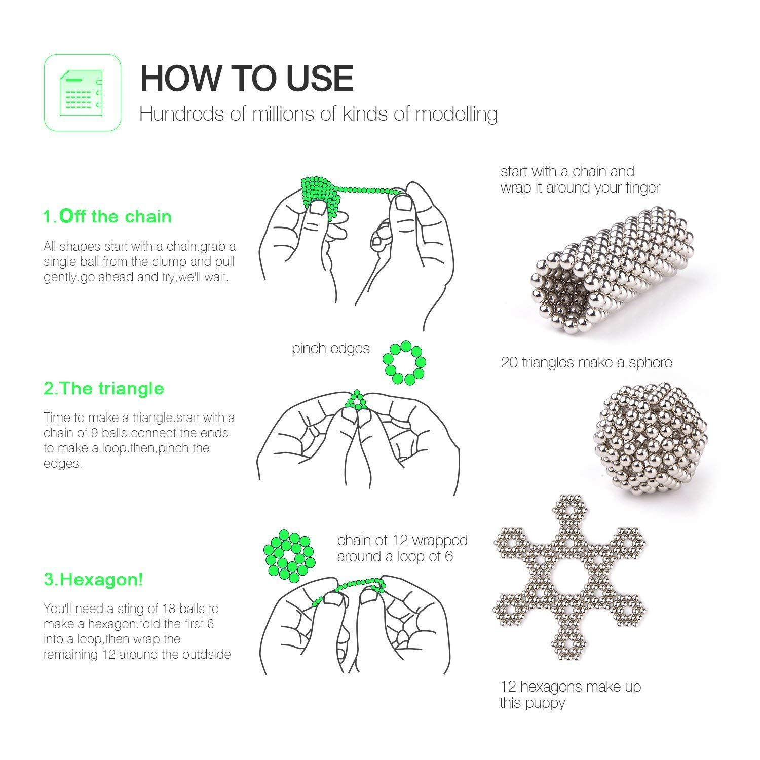 MagneBalls 5MM Magnetic Balls Set-Magnet Fidget Building Beads Desk Toy Perfect for Education Intelligence Development Games and Stress Relief Rainbow