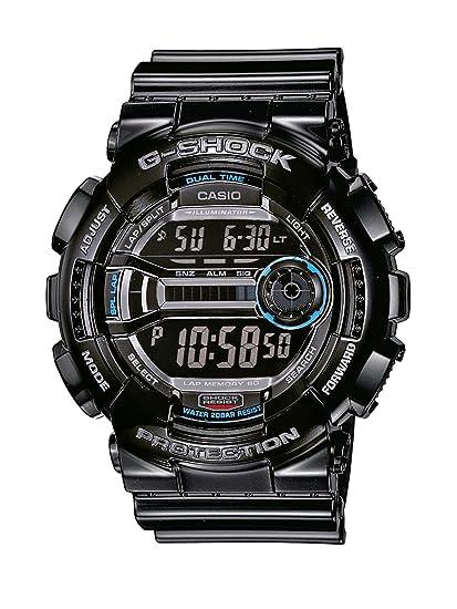 Casio GD-110-1ER - Reloj digital de cuarzo para hombre con correa de resina, color negro: Amazon.es: Relojes