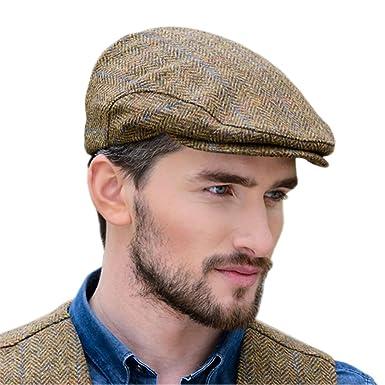 42322515c2f796 Mucros Weavers Brown Wool Flat Cap at Amazon Men's Clothing store: