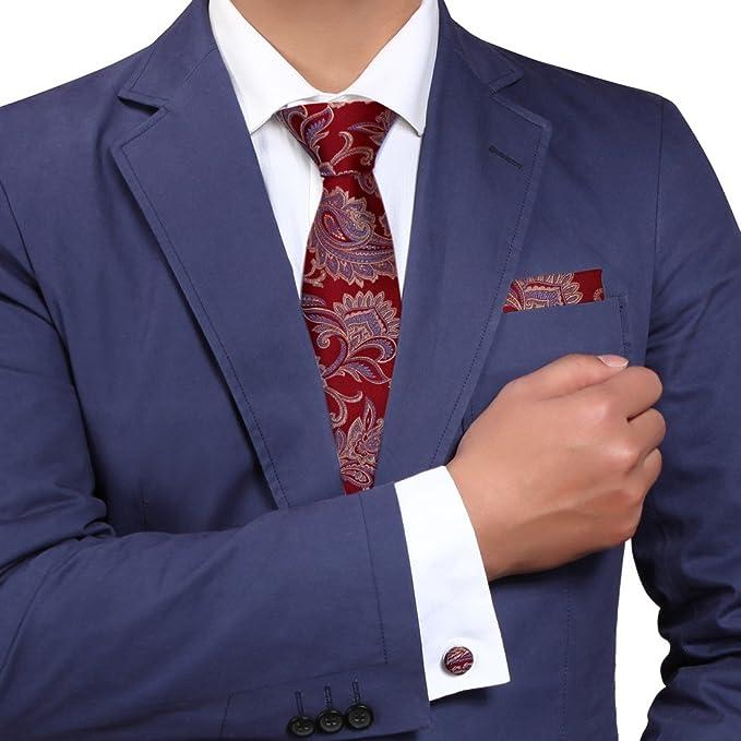 Y&G YA-BC-B.02 Multicolores con dibujos, seda Corbatas para el mejor regalo de los hombres