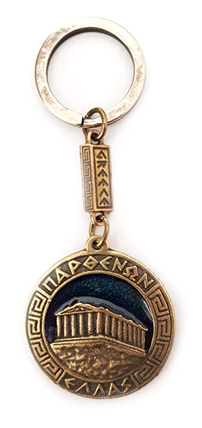 IconsGr - Llavero, diseño de Escudo de Acrópolis, Color Azul ...