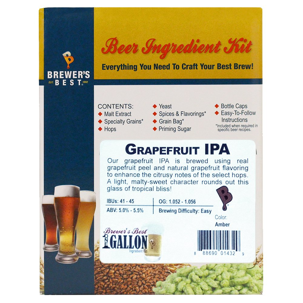 Brewer's Best Home Brew Beer Ingredient Kit - 5 Gallon (Grapefruit IPA)