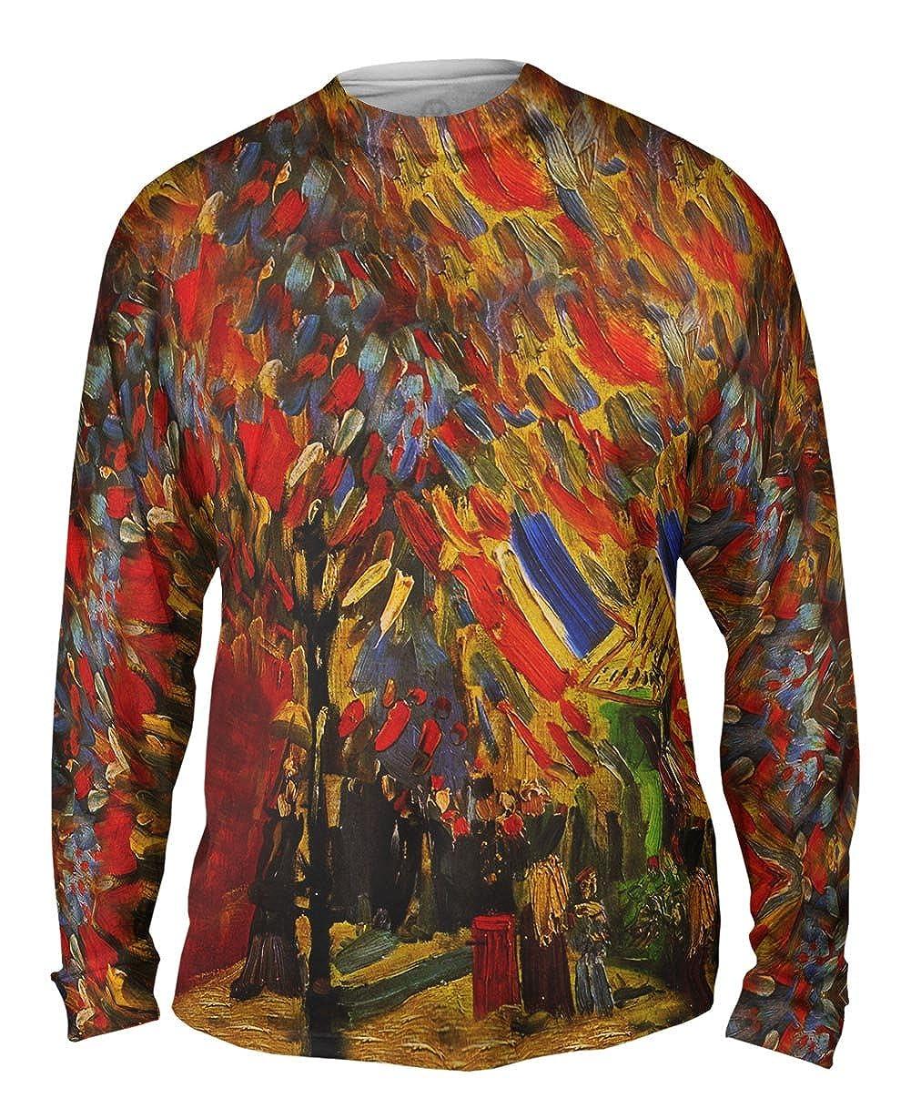 1886 Mens Long Sleeve Van Gogh Yizzam -TShirt Celebration in Paris