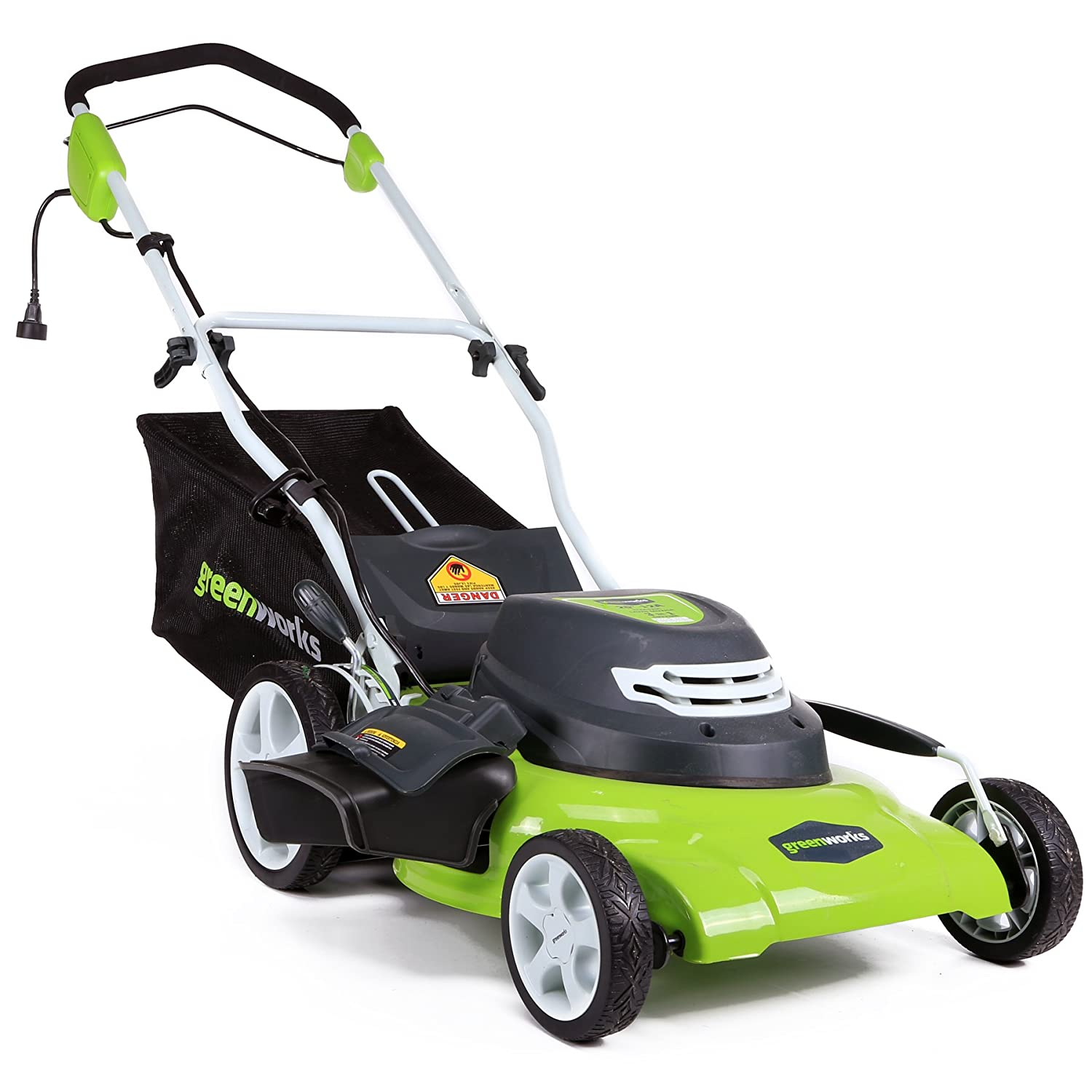 Greenworks 20Inch 3in1 12 Amp Electric Corded Lawn Mower 25022