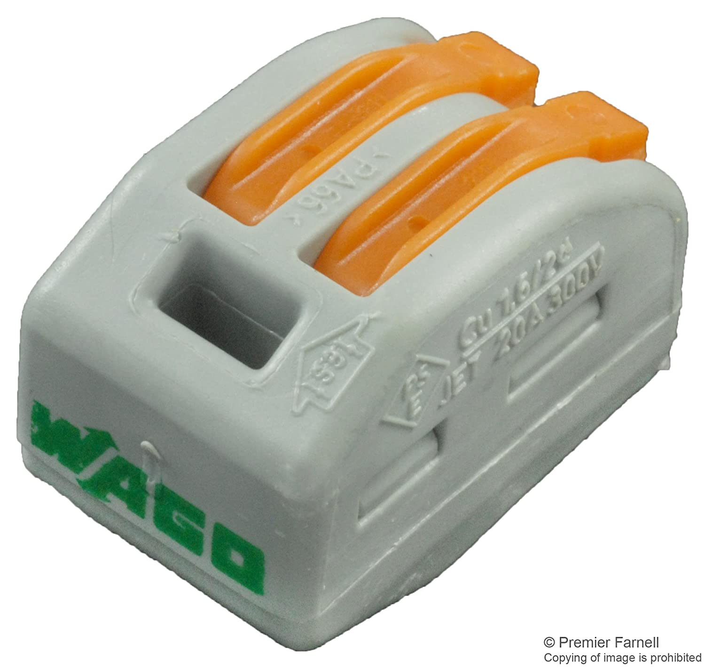 Wago - Borna de conexió n rapida S222 2 conductores x 15 222-412-WAGO