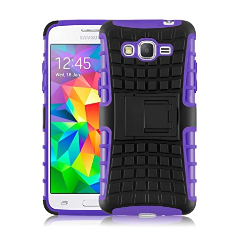 [ Samsung Galaxy Grand Prime ] - Carcasa Alligator JAMMYLIZARD Heavy Duty Case De Alta Resistencia, MORADO