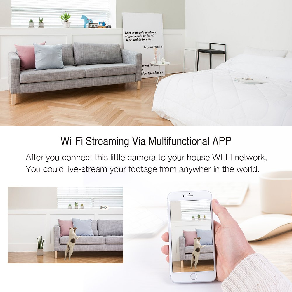 Wireless Security Camera 1080P HD WiFi Surveillance IP Camera for Home, Pet/Baby Monitor With Camera and Audio/Motion Detection/Night Vision/2 Way Audio