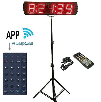"""ganxin app-control 5 """"alta 5 dígitos LED Race reloj temporizador con trípode"""