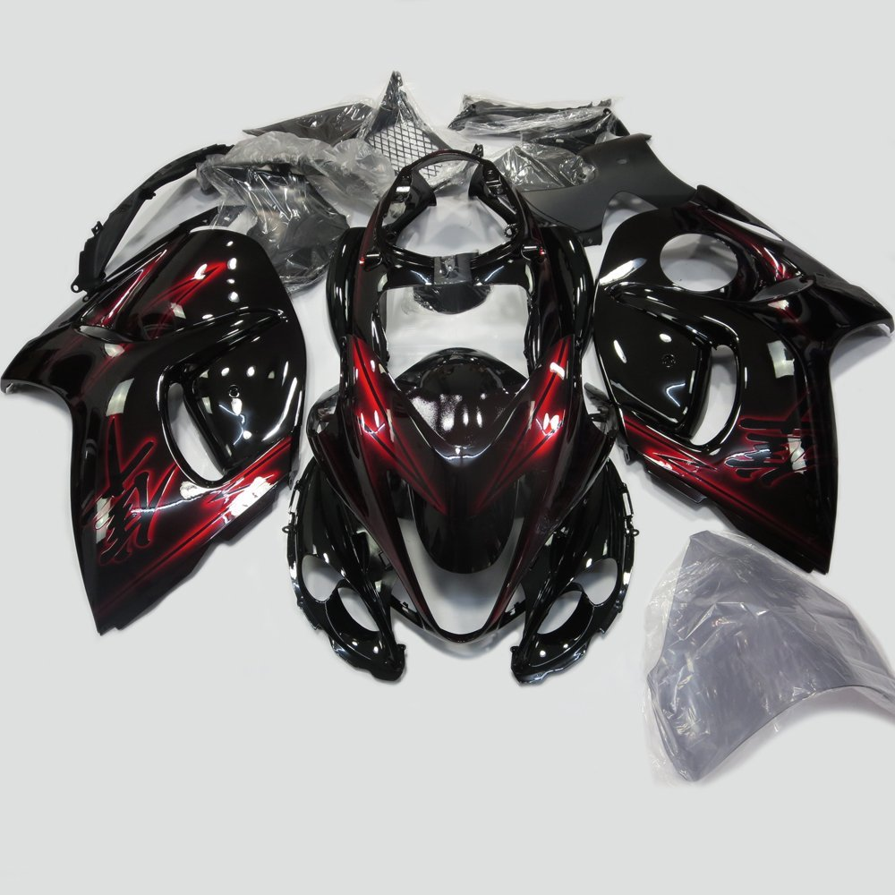 ABS Plastic Injection Mold Red/Black Motorcycle Fairing Kit for Suzuki Hayabusa GSXR 1300 GSX1300R 2008 - 2015