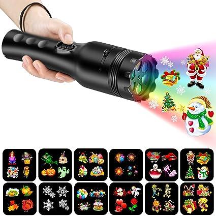 2d88b573877 COMLIFE Proyector de Luz LED 12 Modos de Luces Portátil y Seguro Buen  Regalo para Niños
