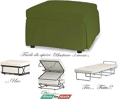 Cubo Letto Militare.Helix Pouff Cubo Letto Pieghevole Colore Verde Militare Con