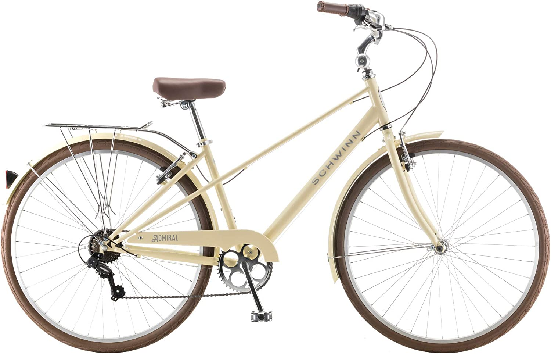 White Schwinn 700c Admiral Womens Hybrid Bike