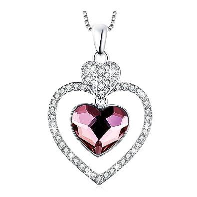SOSHIN Graduation Gift Dance Heart Swarovski Crystal Necklace Pendant  Birthstone Fashion Jewelry 4b61ae29c