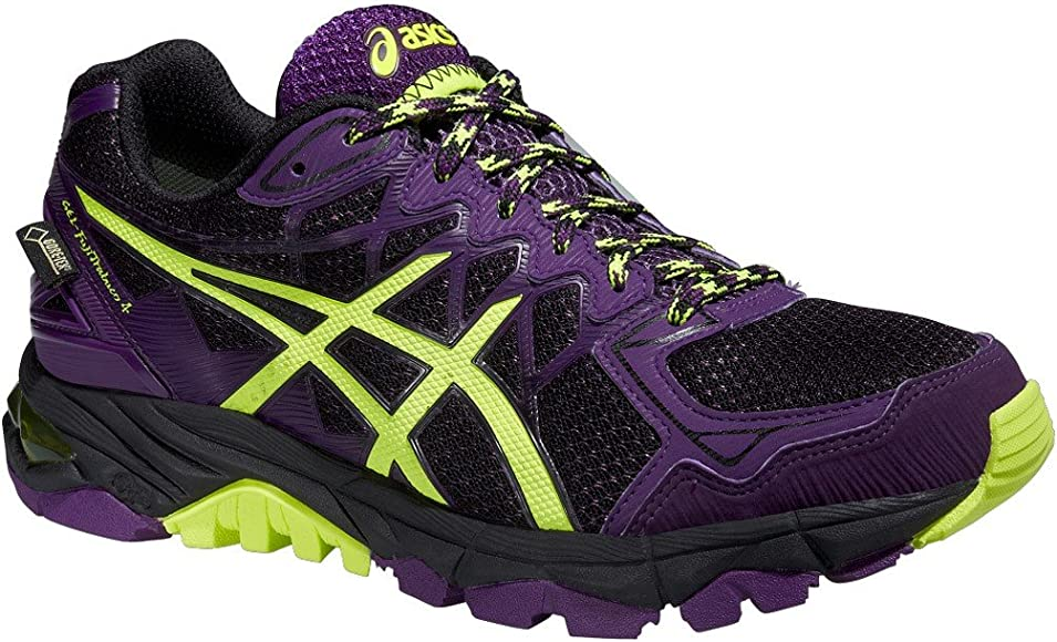 Asics Gel de fujitr abuco 4 G de TX, Mujer Traillaufschuhe, Color Negro, Talla 37.5 EU: Amazon.es: Zapatos y complementos