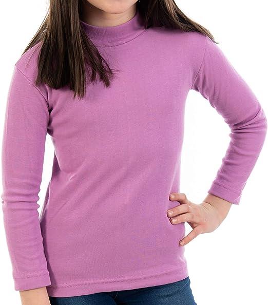 Pack de 2 semicisne Lacotex Infantil L127 de algodón, Manga Larga, Medio Cuello. Camiseta para niño y niña con Interior cálido. Fabricado en España por Lacotex en 16 Colores y 8 Tallas.: