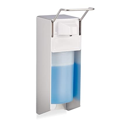Relaxdays – Euro 500 ML, dispensador de jabón desinfectante Montaje en Pared, dispensador de