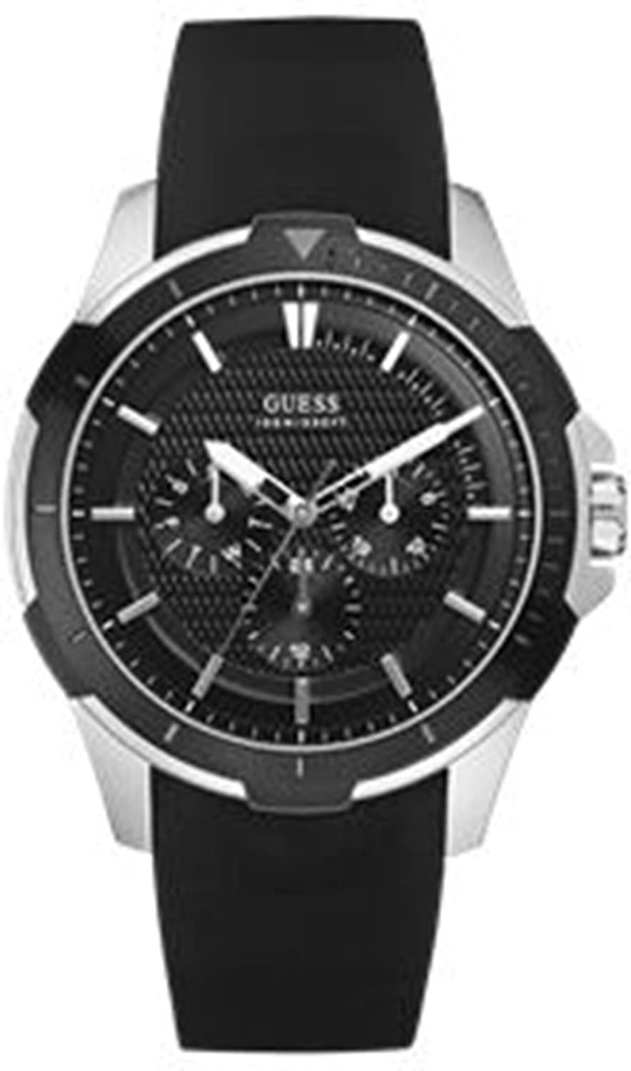 Amazon.com: Guess Mens CALIPER W85079G5 Black Resin Quartz Watch with Black Dial: Guess: Watches