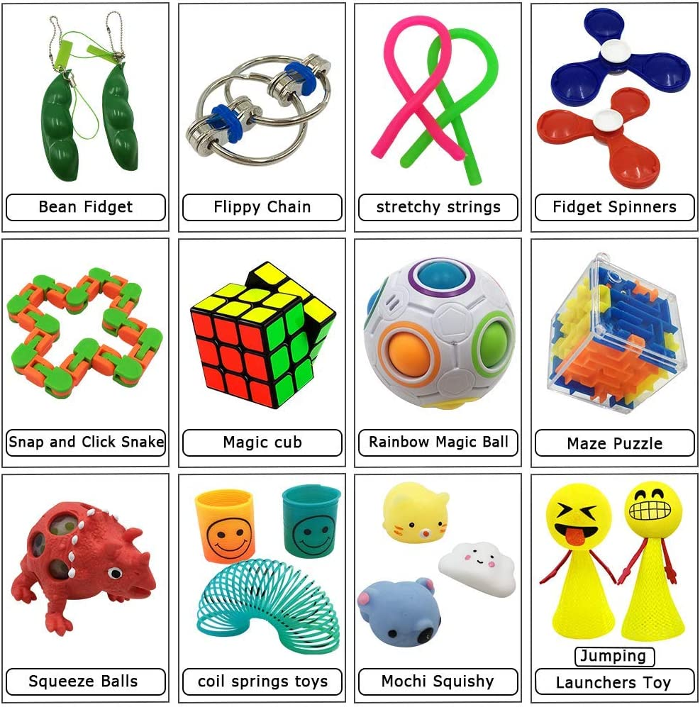 SNAKE TANGLE CHAIN TOY PUZZLE SNAP RELAX ANXIETY STRESS ADHD FIDGET SENSORY AID