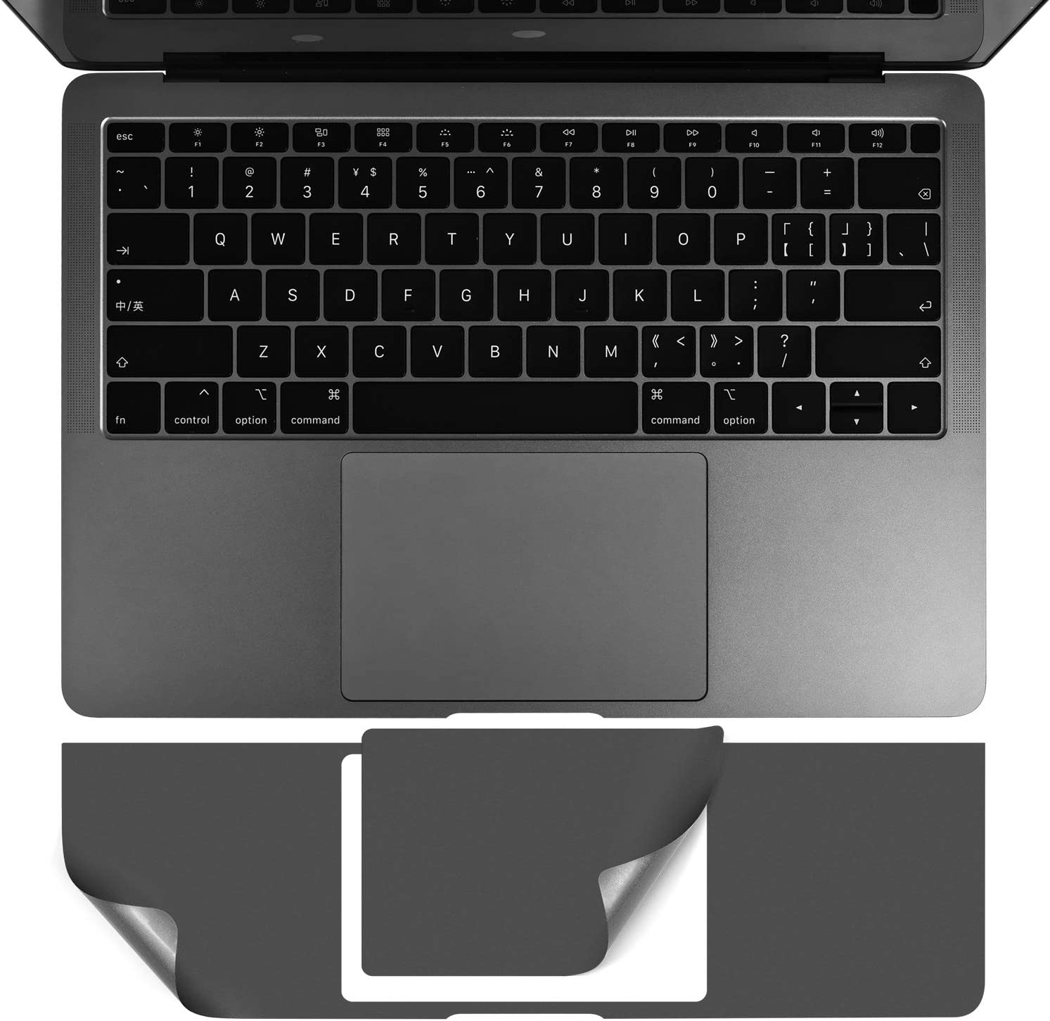 MacBook Air 13 inch Palm Rest Cover, CASEBUY PalmRest Skin with Trackpad Protector for MacBook Air 13-inch Model A2179 A1932 2020 2019 2018 Protective Vinyl Decal Cover Sticker, Space Grey