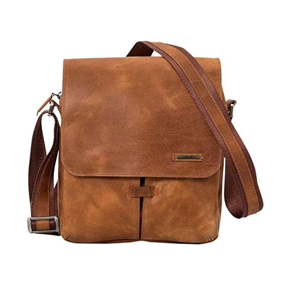 Amazon.com | VÉLEZ 20136 Men Genuine Leather Crossbody Bag | Bandolera De Cuero Honey | Backpacks