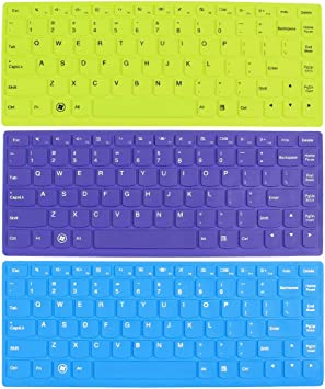 3 PC Azul Verde Violeta teclado de la piel cubierta de la ...
