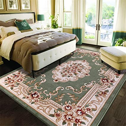 6581a07a3e11 Amazon.com  USA Rug European Green Thicken 15MM Household Cut Flower ...