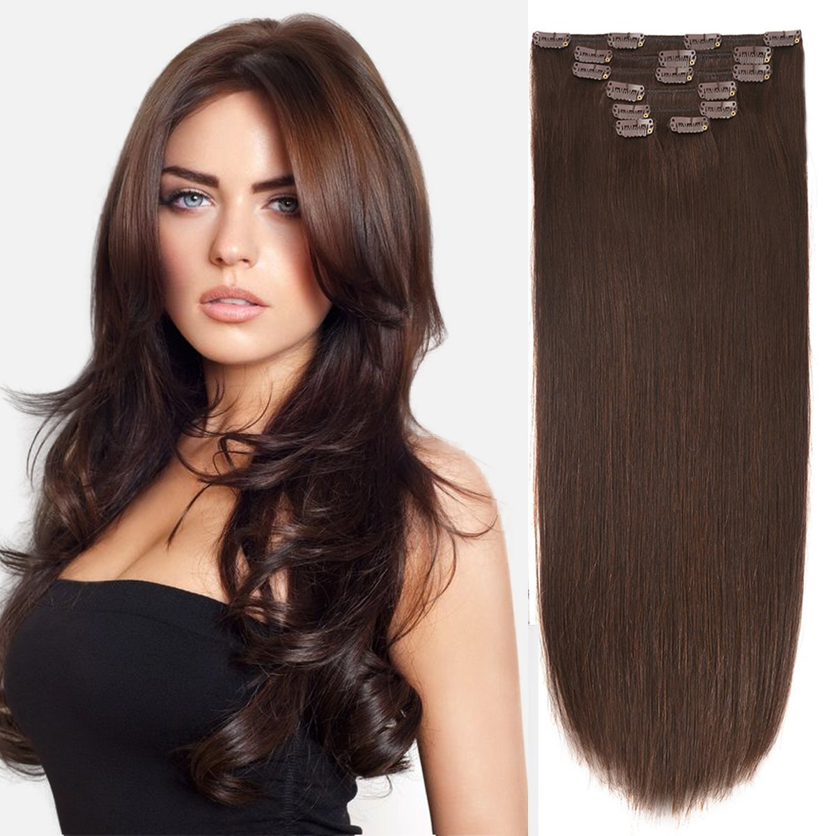 Amazon 18 Clip In Extension Human Hair Clip Extensions Remy