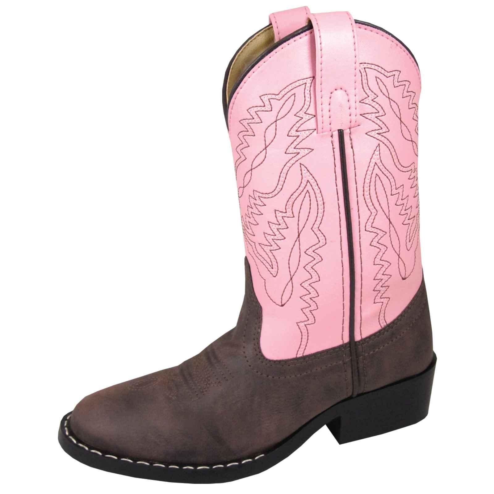 Smoky Mountain Childrens Girls Monterey Boots Brown/Pink, 1M
