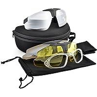 antipolvere lente trasparente antinebbia antivento nero Occhiali di sicurezza per protezione degli occhi unisex occhiali tattici per paintball antigraffio