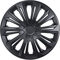 NRM Strong Wheel Covers Strong 4 x Universal Wheel Covers Set of 4 Black Matt (
