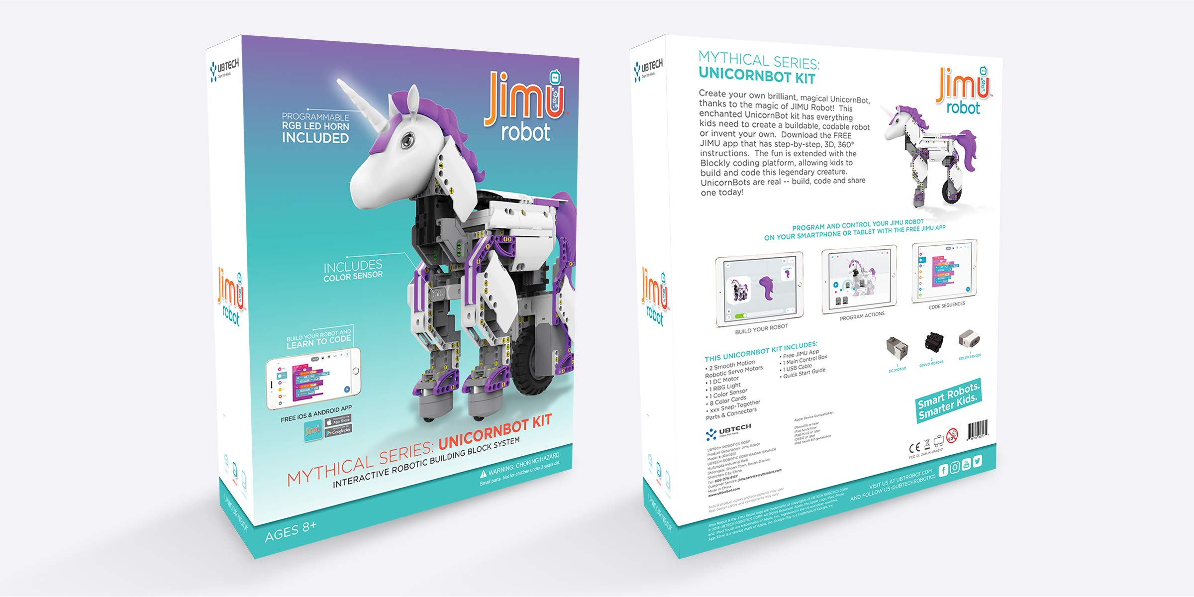 UBTECH Mythical Series: Unicornbot Kit-App-Enabled Building & Coding Stem Learning Kit by UBTECH (Image #6)