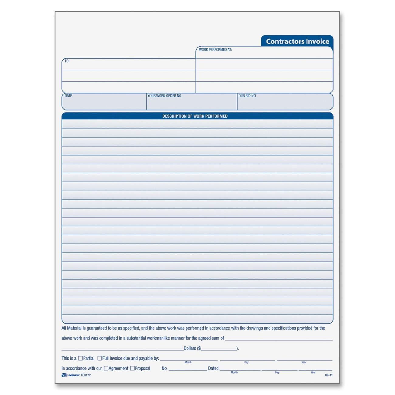 Best Rated In Sales Forms Invoice Forms Helpful Customer Reviews - Handyman invoice template pdf online antique store