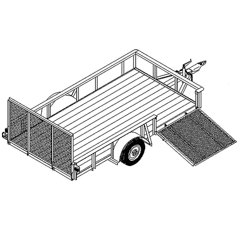 Utility Trailer Plans Blueprints (12' x 6'6'' - Model 1112) by Master Plans