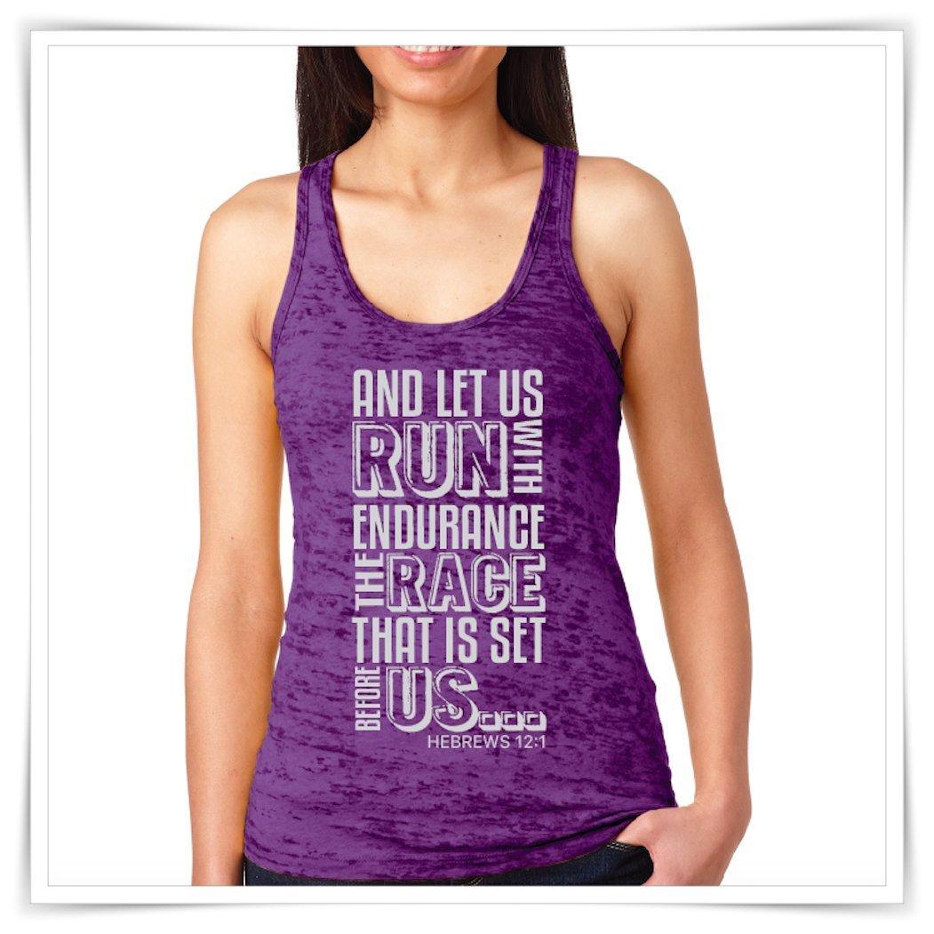 b930db83b Amazon.com  And Let Us Run With Endurance. Marathon Tank. Runner Tanks.  Marathon Shirt. Workout Tank.  Handmade