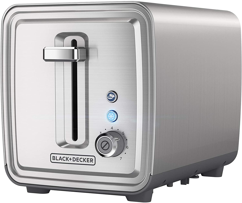 Amazon Com Black Decker 2 Slice Toaster Stainless Steel Kitchen Dining