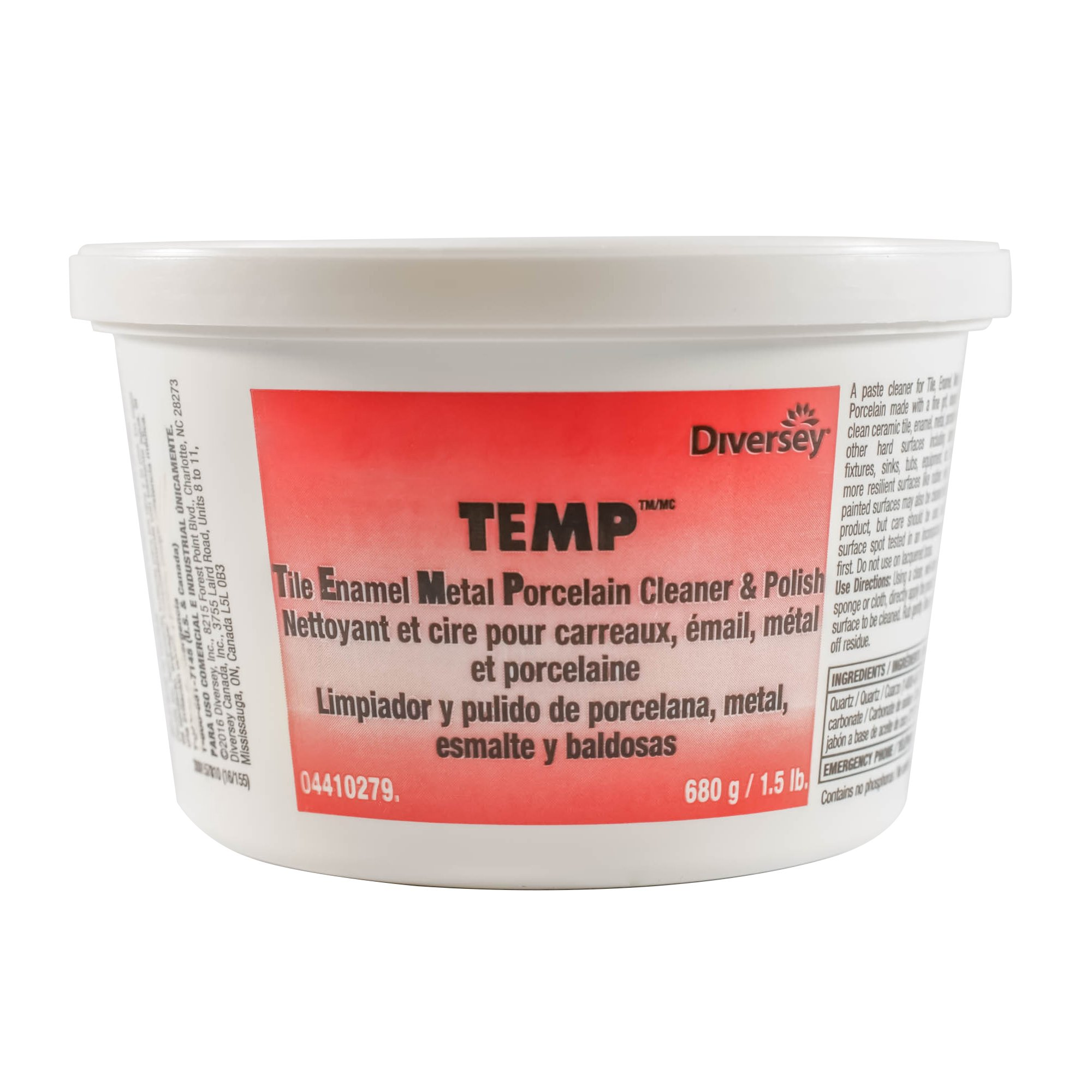 Diversey TEMP Professional Paste Cleaner and Polish (1.5-Pound Tub, 12-Pack)